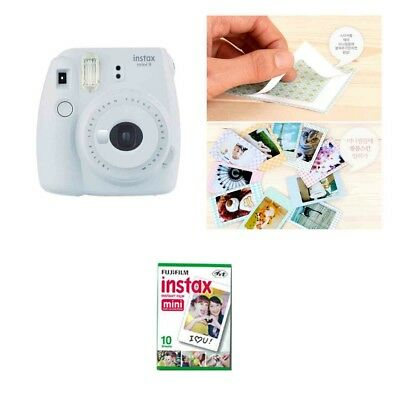 Fujifilm Instax Mini 9 Camera Smokey White 1 Pack Fuji Film 10 Photo 8