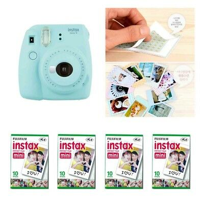 Fujifilm Instax Mini 9 Camera Ice Blue 4 Packs Fuji Film 40 Photo 8