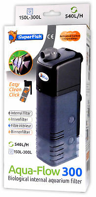 Superfish Aqua-Flow 300 Filter 150-300L Aquarium Internal Filtration Fish Tank