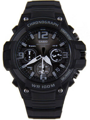 Casio Men's Chronograph Quartz 100m Black Resin Watch MCW100H-1A3V