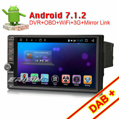 Universal 2Din Android 7.1 Autoradio DAB+GPS Navi WiFi CD DVR OBD2 Bluetooth USB