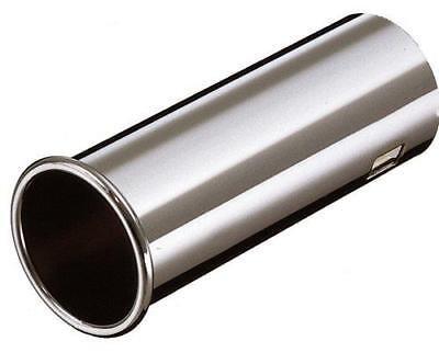 E-Tech Streamline Stainless Steel Exhaust Tip Trim Rolled End - fits O/D 36-56mm