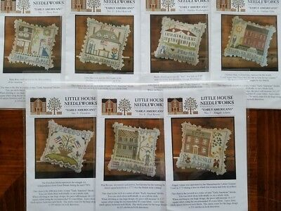 """Little House Needleworks Cnted Crss St """"Early Americans"""" patterns or full set"""