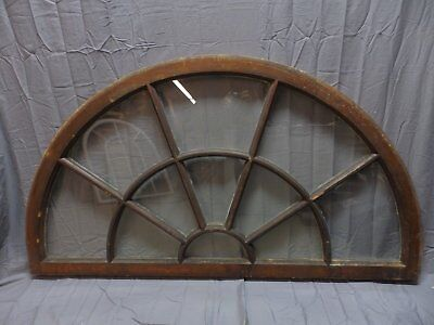 """Large Wide Antique Arched Dome Top 62""""34"""" Palladian Window Old Vintage 240-18P"""