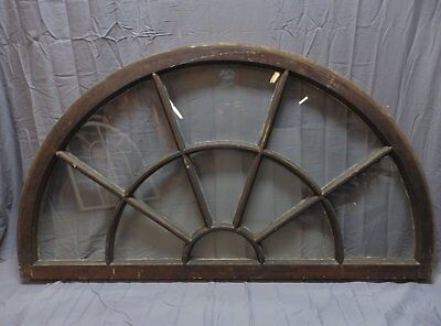 """Large Wide Antique Arched Dome Top 62""""34"""" Palladian Window Old Vintage 241-18P"""