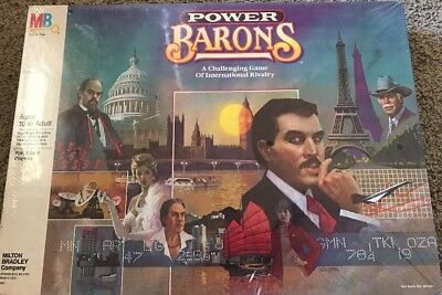 1986 MILTON BRADLEY  Board Game  POWER BARONS  New / SEALED!
