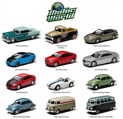 Greenlight 1:64 Motor World Series 12 Car Assortment Diecast Car 96120 Chase Set