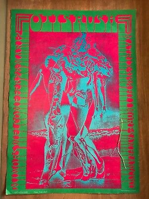 Otis Rush Matrix concert poster - psychedelic style and colors - neon rose 1967
