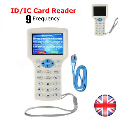 9 Frequency Copy Encrypted NFC Smart Card RFID Copier ID/IC Reader Writer New UK