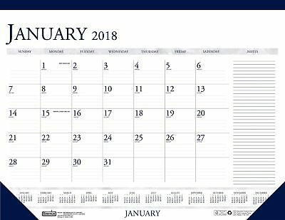 House of Doolittle 2018 Monthly Desk Pad Calendar, Classic With Notes Section...