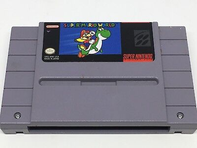 Super Mario World (Super Nintendo  SNES, 1992) Pins Cleaned & Tested