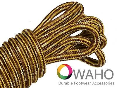 Heavy Duty Brown/Gold Shoe / Boot Laces Reinforced with Nat. Dupont™ Kevlar®