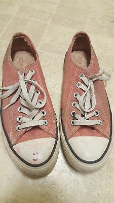 Women's CONVERSE ALL STAR Pink low top sneakers / shoes Size 8 Women's