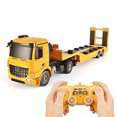 Remote Control RC Truck Flatbed Semi Trailer Kids Electronics Hobby Toy Kids So