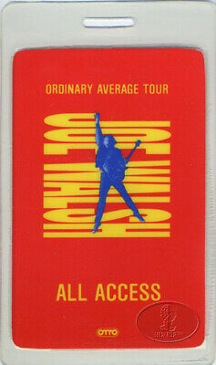 Joe Walsh 1991 Ordinary Average Tour Laminated Backstage Pass The Eagles