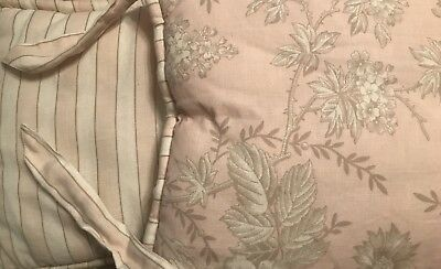 Restoration Hardware Antique Floral Crib Bumper And Skirt Pink