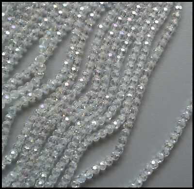 6mm Round AB CLEAR 100 A-Grade Crystal Beads faceted for Suncatcher Jewelry etc