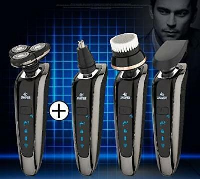 4 in 1 Professional Electric Shaver Razor For Men ,Wet Dry Cordless Rotary...