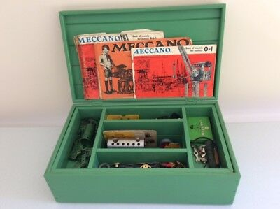 Meccano set boxed with steam drive engine