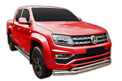 PARE BUFFLE VW AMAROK 2017-prés  INOX Ø 63 mm double city guard