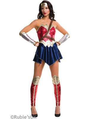 Adult UK 6-18 Wonder Woman Fancy Dress Costume Dawn Of Justice Superhero Ladies