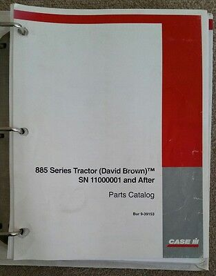 Case David Brown 885 Selectamatic Tractor Parts Catalogue