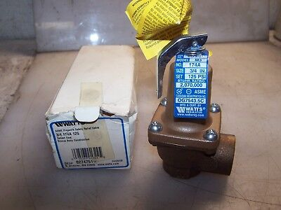 "New Watts 3/4"" Bronze Pressure Safety Relief Valve Model M3  174A"