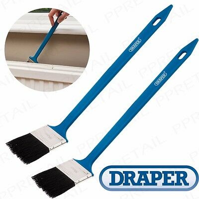 2x QUALITY LONG ANGLED RADIATOR PAINT BRUSH Decorating DIY Plastic Handle Pipe
