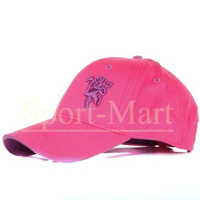 Womens Official Manchester United Football Baseball Cap Pink Ladies
