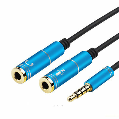 Headphone Mic Audio Y Splitter Cable Male to Dual Female Converter Adapter 3.5mm