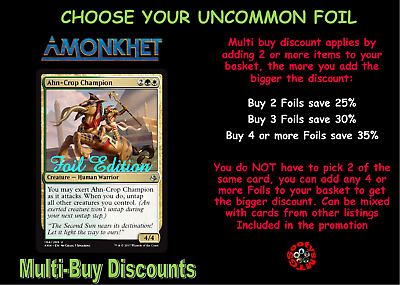 MTG Amonkhet AKH Choose your uncommon Foil - New - Buy 2 or more Save 25%