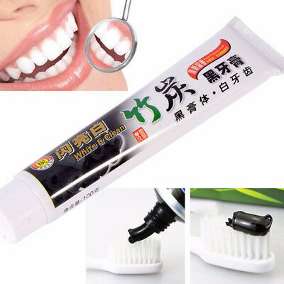 Ecologic Bamboo Charcoal Black Toothpaste Teeth Whitening Remove Stains 100g