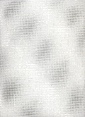 10 count  Zweigart Stramin Canvas White  - fat quarter 50x59cms