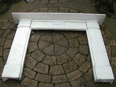 Victorian marble fireplace surround white with stepped undertier