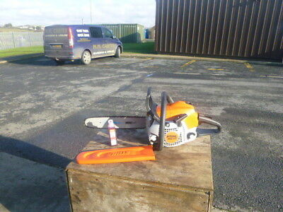"Stihl MS171 home logging chainsaw 14"" bar & chain free stihl oil"