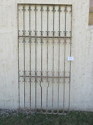 Antique Victorian Iron Gate Window Garden Fence Architectural Salvage #850