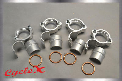 Honda CB750 SOHC Exhaust Flange Kit (With head bolts, half moon spacers, etc.)