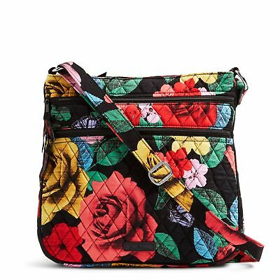 Vera Bradley Keep Charged Triple Zip Hipster Crossbody Bag in Havana Rose