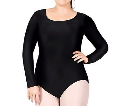 5X 8X 6X 3X 7X Plus Size Nylon Long Sleeve Unitard 811 2X 4X 9X