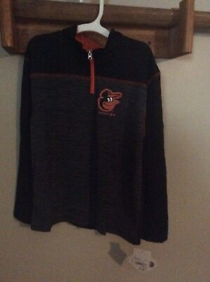 Brand New Boys Orioles Size Small 6-7 Zip Up Pull- Over