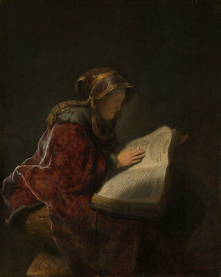"Rembrandt van Rijn : ""An Old Woman Reading"" (1631) — Giclee Fine Art Print"