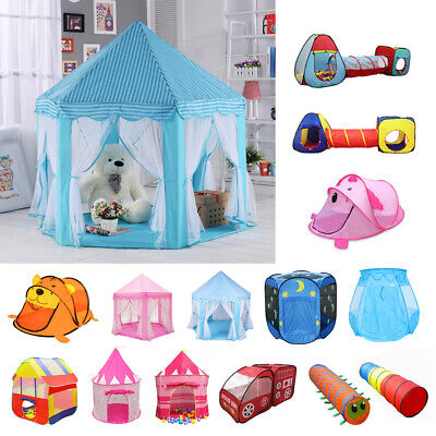 Kids Baby Pop Up Tunnel Play Tents Castle Folding Playhouse Ball Pit Hut Toys
