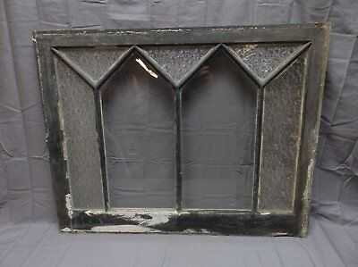 Antique Florentine Privacy Glass Window Sash 25x32 Shabby Cottage Chic 258-18P