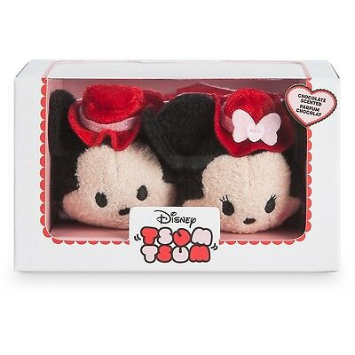 Disney Store Valentine Minnie And Mickey Box Set Tsum Tsum Plush Mini 3 ½""