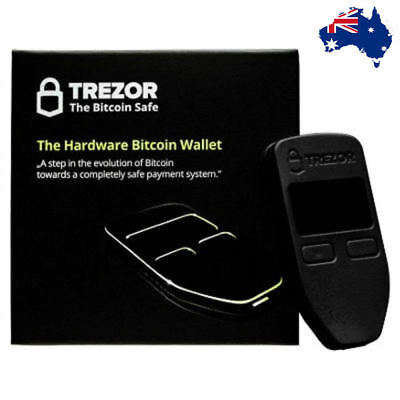IN STOCK!! Trezor Cryptocurrency Hardware Wallet BTC ETH ERC20 Stock Black