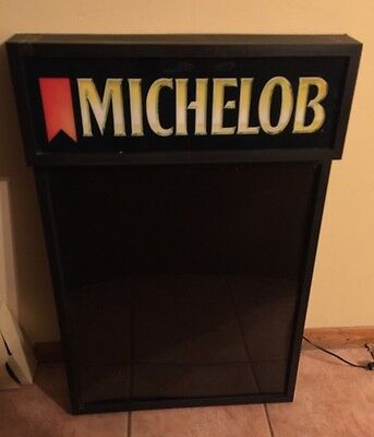 Vintage MICHELOB 1980's DRY ERASE BOARD LIGHT SIGN Bar Advertising Board