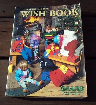 Vtg SEARS CATALOG ~ THE GREAT AMERICAN WISH BOOK ~ 1992 / CHRISTMAS / TOYS