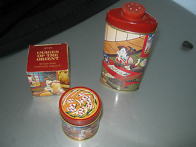 vintage avon images of the orient candle and perfume talc