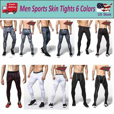 Men's Sports Apparel Skin Compression Base Under Layer Running Long Pants S-3XL