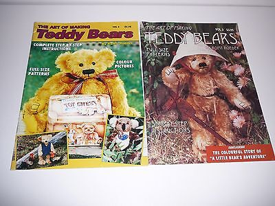 The Art of Making Teddy Bears by Romy Roeder Vol. 2 and Vol. 3 Rare